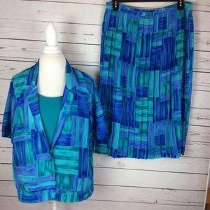 Alfred Dunner Womens Skirt Set Size 18 W